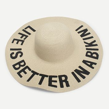 Life Is Better Straw Hat