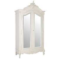 Provencal 2-Door Mirrored French Armoire