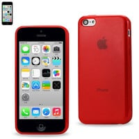 Reiko Polymer Case contains pearl powder+TPU IPHONE 5C RED