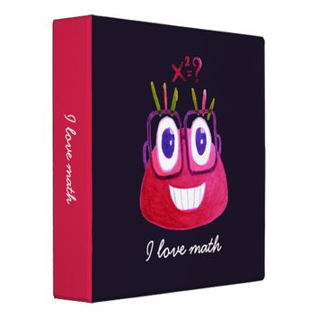 Cute Geek Mathematician Watercolor Candy Love Math Binder