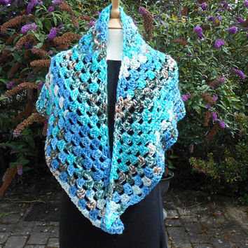 Crochet shawls Hand crochet shawl Crochet shawlette Crocheted wrap Crocheted shawls Christmas gift for girlfriend Crochet scarf Multicolored