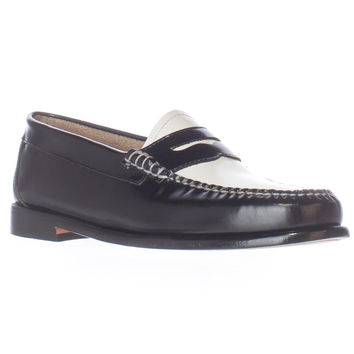Weejuns G.H. Bass & Co. Whitney Penny Loafers - Black/White