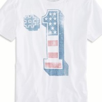 Number 1 Graphic T-shirt (White)