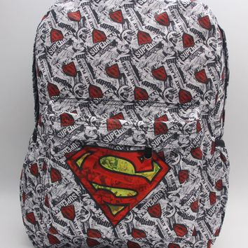 Cartoon Superheros Superman Backpack School Bag Color Printing Laptop Bags Shoulder Travel Bags Leisure Fashion Bag