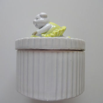 Vintage Fitz and Floyd Ceramic Trinket Box 1979
