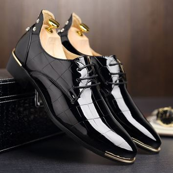 Fashion Men Shoes Leather Shoes Men's Flats Shoes Low men Oxford Shoes