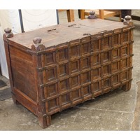 Stick Box Chest with Brass Details - Shelves & Storage - Living
