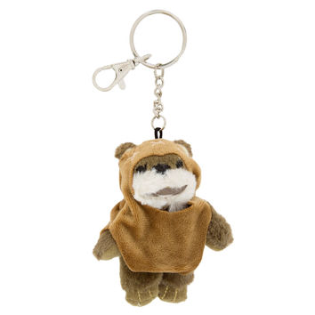 Disney Parks Star Wars Ewok Plush Keychain New with Tags