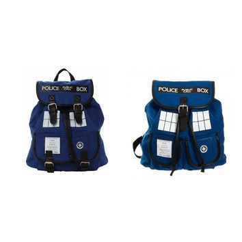 Doctor Dr. Who Backpack Police Box Tardis Women's Knapsack  Bag very Good Quality With Tag