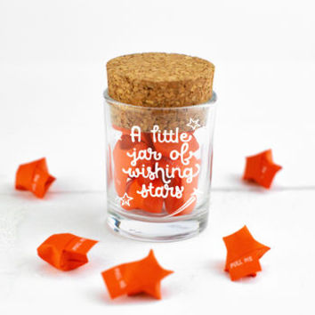 Personalised Little Jar Of Wishing Stars