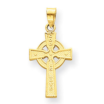 14k Reversible Celtic Cross Pendant M2543