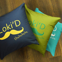 Loki pillow :Loki'D Ehehehehe pillow 16x16