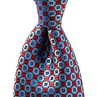 Cremieux 2-Diamond-Printed Silk Tie