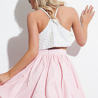 Short Two Piece Homecoming Dress by Rachel Allan