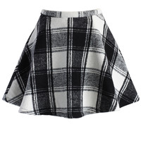 Tartan Twill Mini A-line Skirt Multi