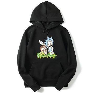Autumn Character Anime Cool Rick Morty hoodies Peace Among Worlds Folk hoodie men women Cotton Casual Funny sweatshirt