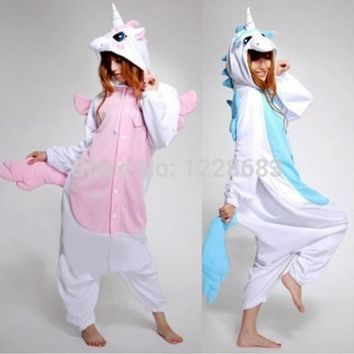 New Kawaii Anime Hoodie Pyjamas Cosplay Adult Animal Onesuit Christmas Halloween Unicorn Pajama Costume Unicorn Onesuit