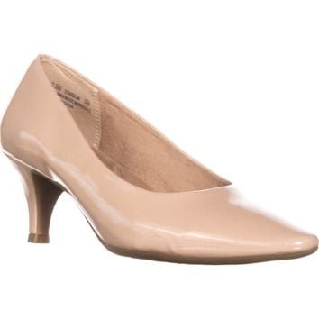 Aerosoles Stardom Pointed Toe Dress Pumps, Nude Patent, 10 W US