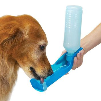 Foldable Pet Dog Cat Water Drinking Bottle Dispenser