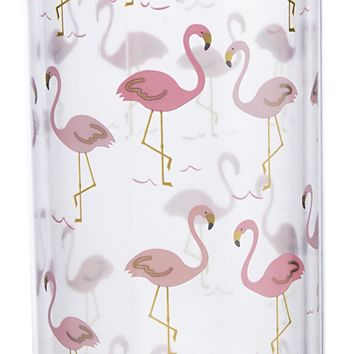 Pink Flamingo Double-Wall Water Bottle