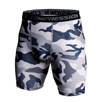 3D Camo Compression Shorts