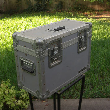 Vintage Anvil Shipping Case / Industrial Cargo Trunk