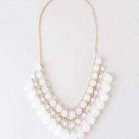 KANDY TEARDROP NECKLACE IN WHITE