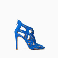 CRISS CROSS HIGH HEEL SANDAL