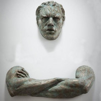 3D Sculpture Wall Art Gift For Home Decor Interior Design UNIQUE AND AMAZING Man Contemporary Artwork model 15.01