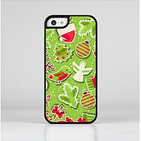 The Red and Green Christmas Icons Skin-Sert Case for the Apple iPhone 5c