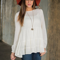 Dazed And Dreamy Blouse, Ivory