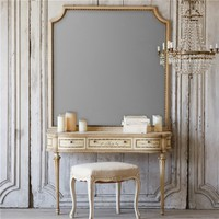 Eloquence One of a Kind Vintage Vanity Louis XVI Weathered Cream