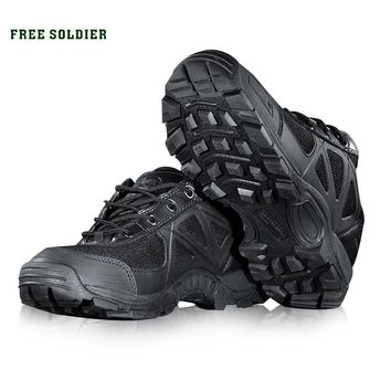 FREE SOLDIER Outdoor Sports Camping  Hiking Men's shoes Mountain Non-slip Breathable Tactical Boots