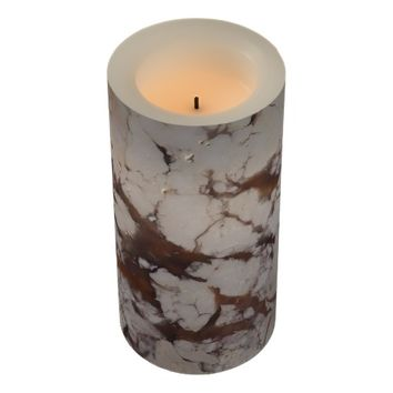 Marble Stone Pattern Flameless Candle