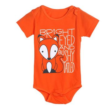 Newborn Summer Baby Rompers Baby Clothing for Girls Fox Pattern Cotton Baby Boy Romper Roupa Infantil Clothes