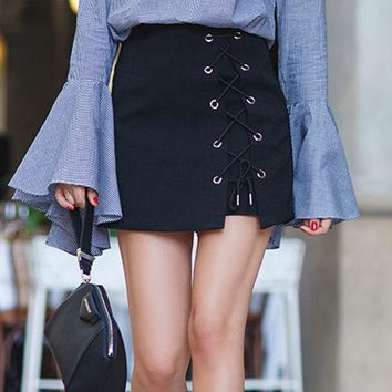 Hot Sale Winter Fashion Hollow Out Skirt