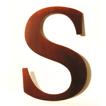 Metal S Sign Letter - Rusty Rustic Wall Art Sculpture Decor