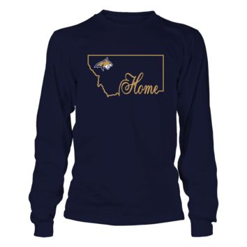 Montana State Bobcats - Home In State Outline - T-Shirt - Officially Licensed Fashion Sports Apparel