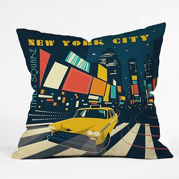Anderson Design Group NYC Times Square Throw Pillow