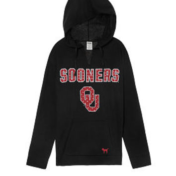 University of Oklahoma Bling Campus Split Neck Pullover - PINK - Victoria's Secret