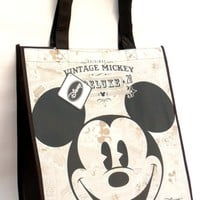 Vintage Style Mickey Mouse Face Non Woven Tote Bag