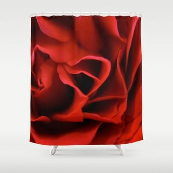 Red Rose Shower Curtain by UMe Images