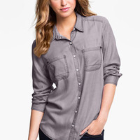Rubbish® Relaxed Menswear Shirt (Juniors) | Nordstrom