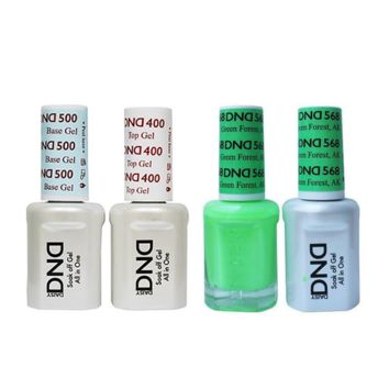DND - Base, Top, Gel & Lacquer Combo - Green Forest AK - #568