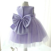 12345678t  Flower girl dress purple blue tutu  by babygirldress