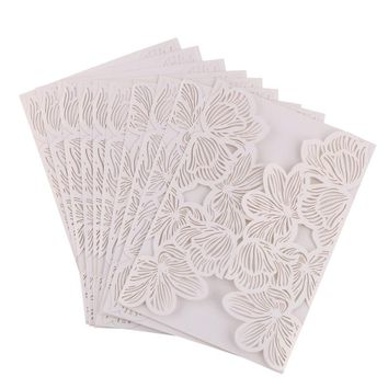 10pcs Laser Cut Butterfly Invitations Cards Kits for Wedding Bridal Shower Birthday