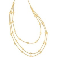 Tory Burch Multi-strand Logo Necklace