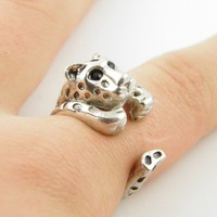 Silver Leopard Ring - SIZE 7