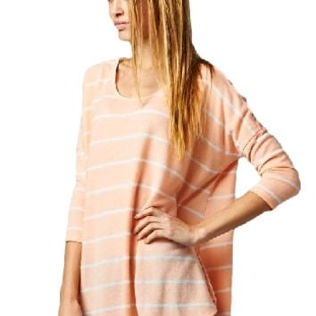 Earn Your Stripes Top - Peach