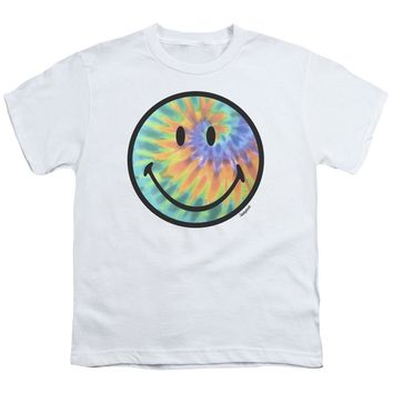 Smiley World - Tie Dye Face Short Sleeve Youth 18/1
